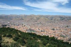 Взгляд города Cusco, Перу Стоковые Изображения RF