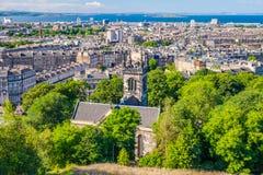 Взгляд города Edinburg, Шотландии Стоковые Изображения RF