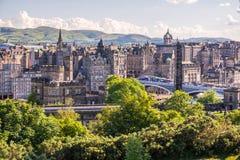 Взгляд города Edinburg, Шотландии Стоковое Фото
