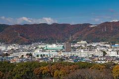 Взгляд города Himeji городской от города Himeji Стоковая Фотография