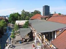 Взгляд города Metelkova, Любляны, Словении Стоковое Фото
