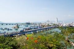 Взгляд города Nha Trang, Вьетнама Стоковое Изображение RF