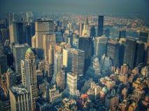 Взгляд города NY от верхней части Эмпайра Стейта Билдинга Стоковое фото RF