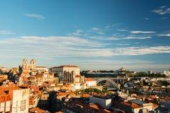 Взгляд города Porto в Португалии Стоковая Фотография