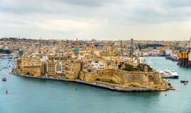 Взгляд города Senglea - Мальты Стоковые Фото