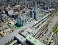 Взгляд города Yamagata в Tohoku, Японии Стоковая Фотография