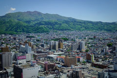 Взгляд города Yamagata в Tohoku, Японии Стоковые Изображения