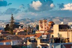 Взгляд городка Лимасола старого Кипр стоковое фото rf