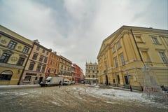Взгляд городка Люблина старый Стоковое фото RF