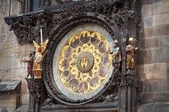 взгляд городка республики cesky чехословакского krumlov средневековый старый Прага астрономические часы prague Стоковое Изображение