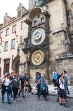 взгляд городка республики cesky чехословакского krumlov средневековый старый Прага астрономические часы prague Стоковые Фотографии RF
