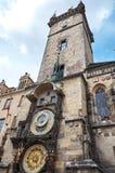 взгляд городка республики cesky чехословакского krumlov средневековый старый Прага астрономические часы prague Стоковая Фотография