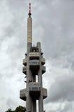 взгляд городка республики cesky чехословакского krumlov средневековый старый zizkov башни телевидения prague 17-ое июня 2016 Стоковое Фото