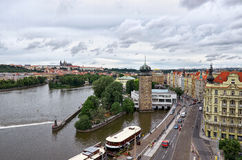 взгляд городка республики cesky чехословакского krumlov средневековый старый Взгляд Праги от высоты 17-ое июня 2016 Стоковое Изображение