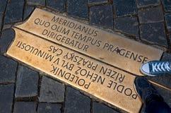 взгляд городка республики cesky чехословакского krumlov средневековый старый Меридиан Праги на старой городской площади 18-ое июн Стоковое Фото