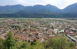 Взгляд городка с много расквартировывает в Европе Стоковое Изображение RF