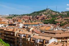 Взгляд городка Теруэль старого, Арагона Стоковая Фотография