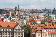Взгляд городка Mesto взгляда старый, Прага, Стоковые Изображения RF
