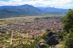 взгляд городка meteora kalambaka Греции стоковое фото