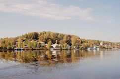 Взгляд городка Ples, России Стоковые Фото