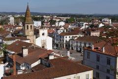Взгляд городка Tomar, район Santarem, Стоковое Изображение