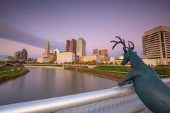 Взгляд городского горизонта Колумбуса Огайо Стоковое Изображение RF