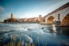 Взгляд городского пейзажа Вероны стоковая фотография rf