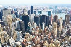 Взгляд городского пейзажа Манхаттана от Эмпайра Стейта Билдинга Стоковое фото RF