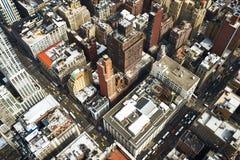Взгляд городского пейзажа Манхаттана от Эмпайра Стейта Билдинга Стоковая Фотография