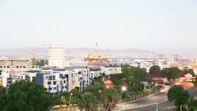 Взгляд городского пейзажа на Кейптауне сток-видео