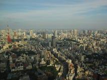 Взгляд городского пейзажа токио сверху на башне токио Стоковое Изображение RF
