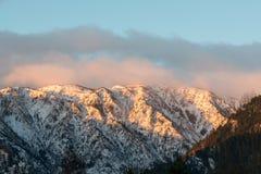 Взгляд горы в утре, Вашингтона Животик-воды Стоковые Изображения
