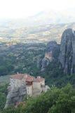 Взгляд гор и долины где монастыри Meteora стоковое изображение rf