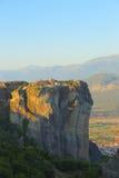 Взгляд гор и долины где монастыри Meteora стоковые фото