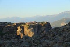 Взгляд гор и долины где монастыри Meteora стоковая фотография rf