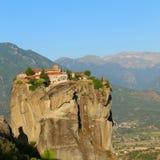 Взгляд гор и долины где монастыри Meteora стоковые изображения rf