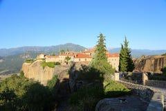 Взгляд гор и долины где монастыри Meteora стоковое фото rf