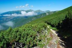 Взгляд гор и холмов, Словакии Стоковая Фотография