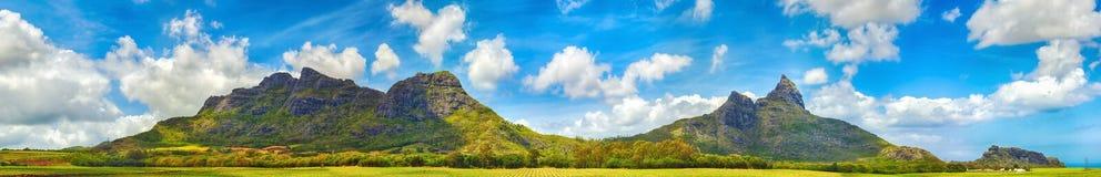 Взгляд гор Маврикий панорама Стоковые Изображения