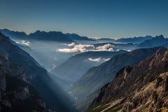 Взгляд гор доломитов в Италии Стоковые Фото
