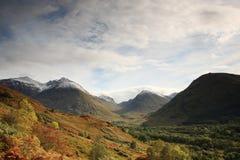 Взгляд гор Glencoe стоковое изображение rf