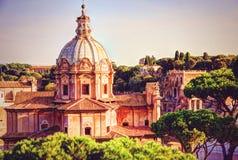 Взгляд государства Ватикан от Рима Стоковая Фотография