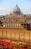 Взгляд государства Ватикан от Рима Стоковая Фотография RF
