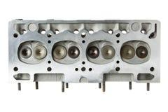 Взгляд головки цилиндра двигателя автомобиля нижний Стоковые Фотографии RF