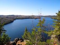 Взгляд границы мочит озера Стоковое Изображение RF
