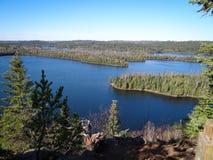 Взгляд границы мочит озера Стоковая Фотография
