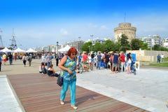 Взгляд Греция прогулки Thessaloniki Стоковое фото RF