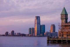 Взгляд Гудзона и Jersey City Стоковое фото RF