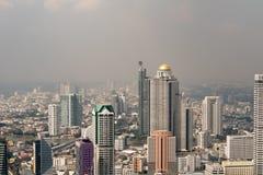 Взгляд глаза птицы города Бангкока Город Бангкока взгляд сверху город здания bangkok Городской пейзаж, Таиланд Стоковое Изображение