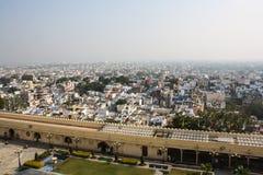 Взгляд глаза птицы от дворца города, Udaipur, Индии Стоковые Фото